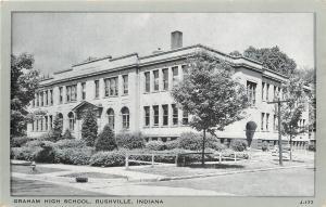 Rushville Indiana~Graham High School~1940s Wayne Paper Box~Gray Border~J-177