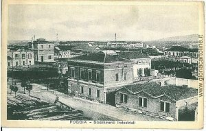 08326  CARTOLINA d'Epoca - FOGGIA Citta' : STABIL INDUSTRIALI