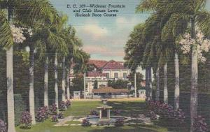 Florida Miami Widener Fountain And Club House Lawn Hialeah Race Course