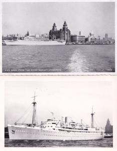SS Aureol Ship Elder Dempster Liverpool Real Photo & Old Postcard