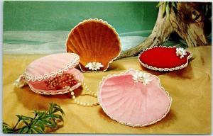 1950s Advertising Postcard The Velvet Touch National Handicraft of Des Moines