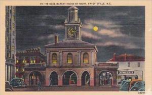 North Carolina Fayetteville Ye Old Market House By Night