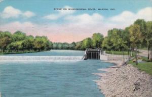 Indiana Marion Scene On Mississinewa River 1942
