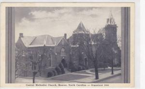 Street view, Central Methodist Church,  Monroe,  North Carolina,  40-60s