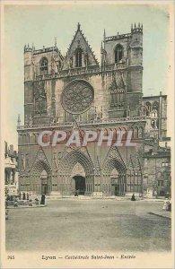 Old Postcard Lyon Saint Jean Cathedral Entrance