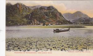 KESWICK, England, 1900-1910´s; Waterlilies On Derwentwater, With Lodore Hotel