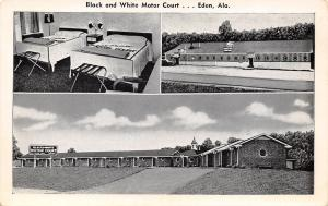 Eden -Pell City Alabama~Black & White Motel~B&W Postcard, Too 1940s