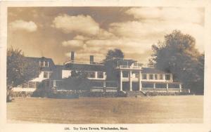 Winchendon Massachusetts~Toy Town Tavern~Badminton Net in Lawn~1929 RPPC