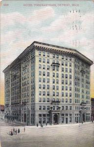 DETROIT, Michigan, PU-1908; Hotel Ponchartrain