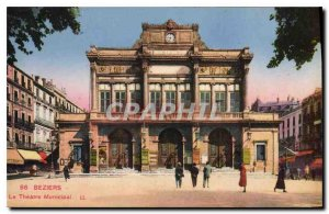 Old Postcard The Theater BEZIERS Munucipal
