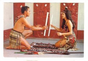 Maori Stick Game, Rotorua, New Zealand, 50-70s