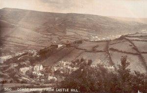 Vintage Postcard 1910's Combe Martin from Castle Hill Devon England UK