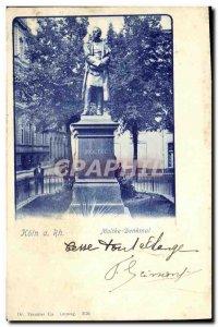 Old Postcard Koln has Rh Moltke Denkmal
