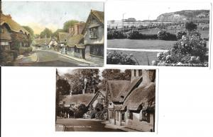 England -Three postcards- Shanklin Isle of Wight one used two real photos #1218