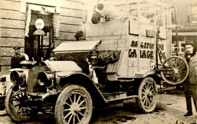 NY - Ballston Spa.Truck Hauling,Trotter & Sulky to Racetrack, 1915 (Repro)