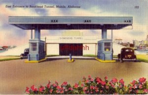 EAST ENTRANCE TO BANKHEAD TUNNEL, MOBILE, AL publ by Mobile Cigar & Tobacco Co