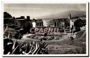 Old Postcard Veduta Dal teatro Antico Taormina