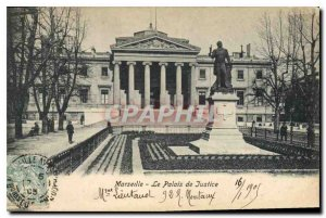 Old Postcard Marseille Courthouse