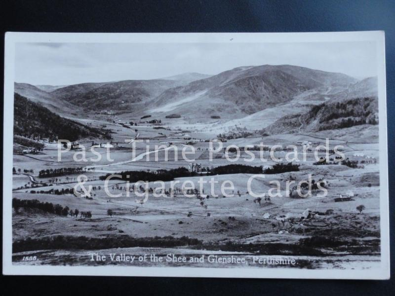 Old RPPC The Valley of the Shee and Glenshee, Perthshire