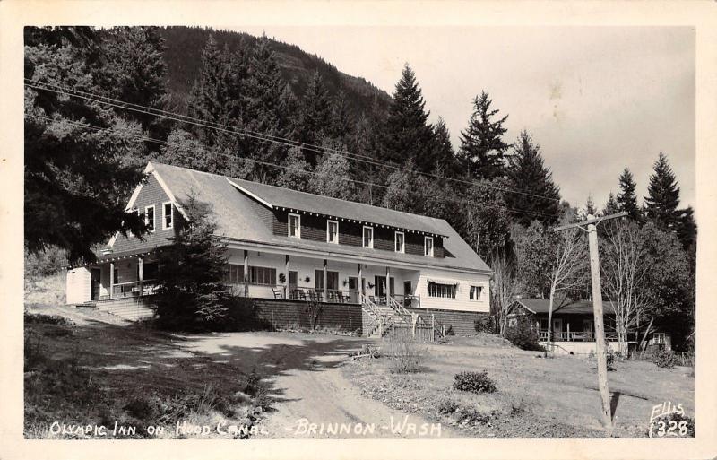 Brinnon Washington~Olympic Inn~Hood Canal~Fried Oyster Dinner For Us~1950 RPPC