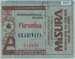 68401 - BIGLIETTO PARTITA CALCIO  Scudetto 1983-84 : INTER / Fiorentina