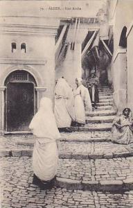 People On The Stairs, Rue Arabe, Alger, Algeria, Africa, 1900-1910s