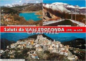 Postcard Modern Saluti da Vallerotonda Prop Ris Nicolina Torrice Tabacchi Riv...