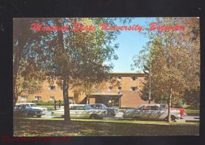 BOZEMAN MONTANA STATE UNIVERSITY HANNON HALL 1960's CARS VINTAGE POSTCARD