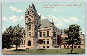 Florence Nebraska~Omaha Water Co~Minne-Lusa Pumping Station~c1910