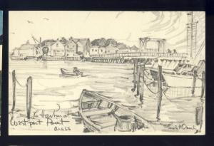 Westport, Massachusetts/MA/Mass Postcard, The Harbor At Westport Point