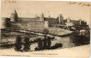CPA Cité de CARCASSONNE-Vue générale Sud (260970)