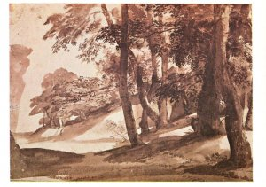 Claude Lorrain A Road Under A Wooded Slope Painting Postcard