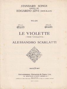 Le Violette Scarlatti Classical Old Sheet Music