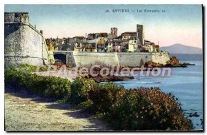 Postcard Old Antibes Ramparts