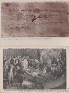 Napoleon Abdication + Burial 2x Antique French Military Battle Old Postcard s
