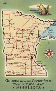 MINNESOTA, Greetings From the Gopher State Land of 10,000 Lakes, 30-40s