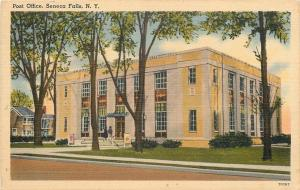 Seneca Falls New York~Girls Go in US Post Office~Posters~1940s Postcard