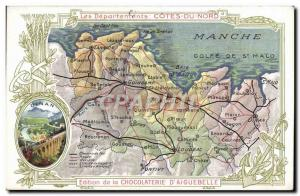 Old Postcard geographical maps of Chocolaterie & # 39Aiguebelle Cotes North D...