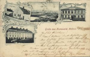 czech, KUNÍN KUNEWALD i. MÄHREN Brickyard School, Guest House Scheuer 1902 Stamp