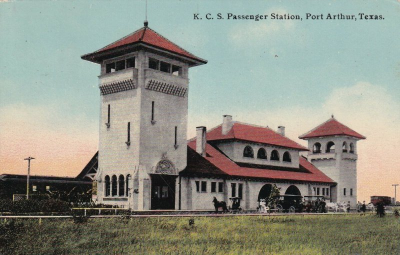 PORT ARTHUR, Texas, PU-1913; K. C. S. Passenger Train Station