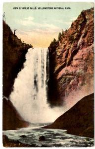 T.P. & Co., View of Great Falls, Yellowstone National Park