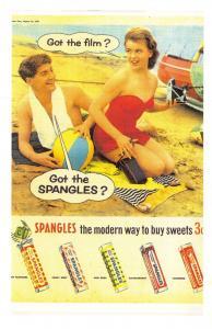 Nostalgia Postcard  GOT THE SPANGLES  1956 repro advertising card #N38