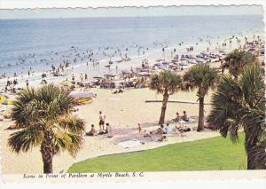 Scene in Front of Pavilion at Myrtle Beach, South Carolina,  50-70s
