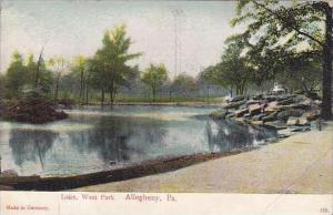 Pennsylvania Allegheny Lake West Park 1907
