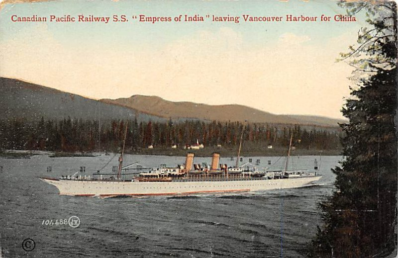 SS Empress of India Canadian Pacific Line Ship 1919