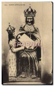 Old Postcard Sainte Anne Palue Virgin
