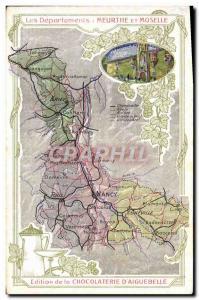 Postcard Old MAPS Chocolaterie d & # 39Aiguebelle Meurthe et Moselle Nancy