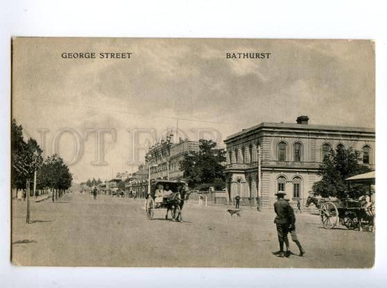 147459 AUSTRALIA BATHURST George street Vintage postcard