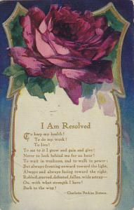Red Rose I Am Resolved by Charlotte Perkins Stetson