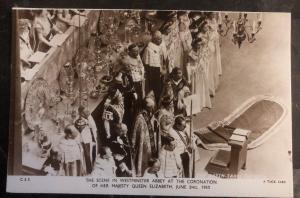 Mint England RPPC Postcard Scene At Coronation Queen Elizabeth II June 2 1953